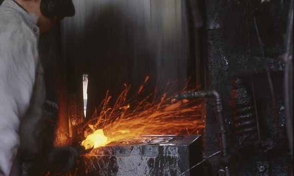 Anchor Forging being manufactured