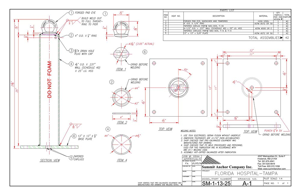 FABRICATION DRAWING - SM-1-13X13-25-FAB-NO-FOAMx