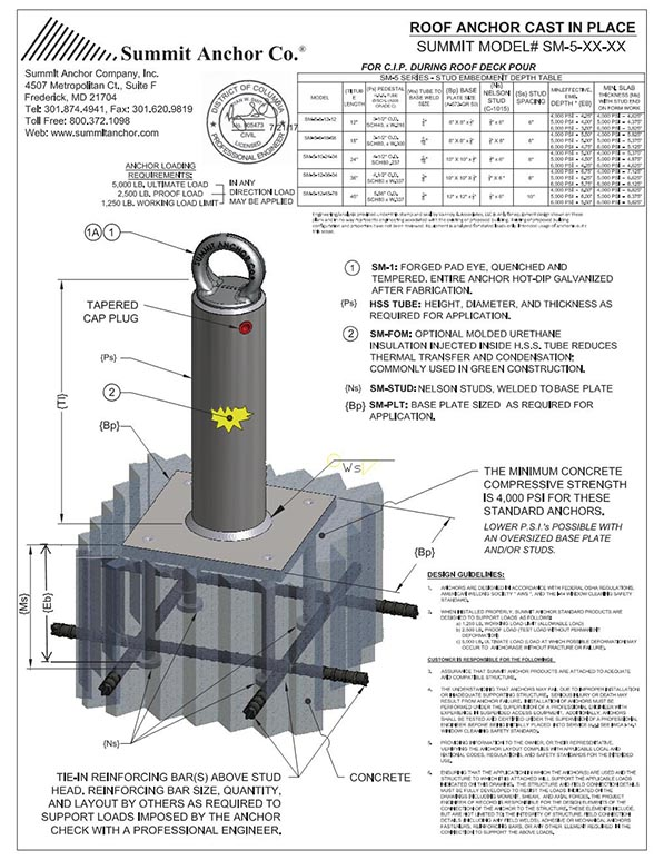 PRODUCT APPLICATION DRAWING - SM-5-XX-XX; MKT; 4 Studs Con. DC Stamp